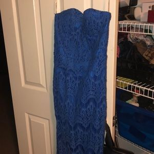Blue lace mermaid gown